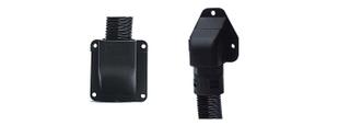 KFW法蘭盤式塑料波紋管接頭 塑料波紋管可打開式法蘭式固定座 90度法蘭盤式底座接頭